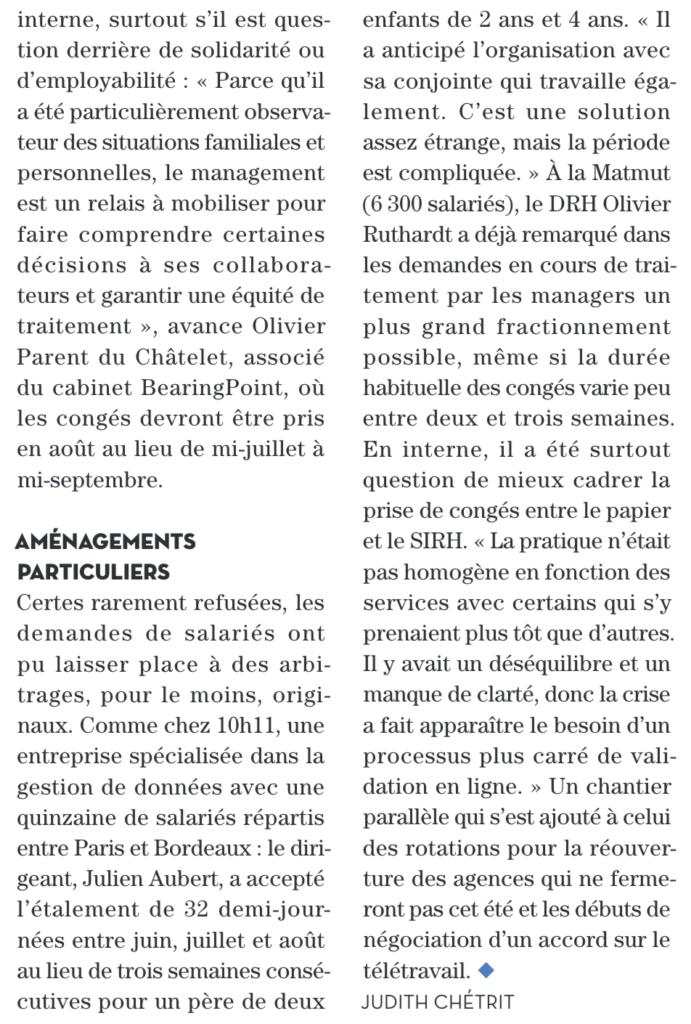 [REVUE DE PRESSE] Le magazine Entreprise & Carrières interviewe 10h11. 7