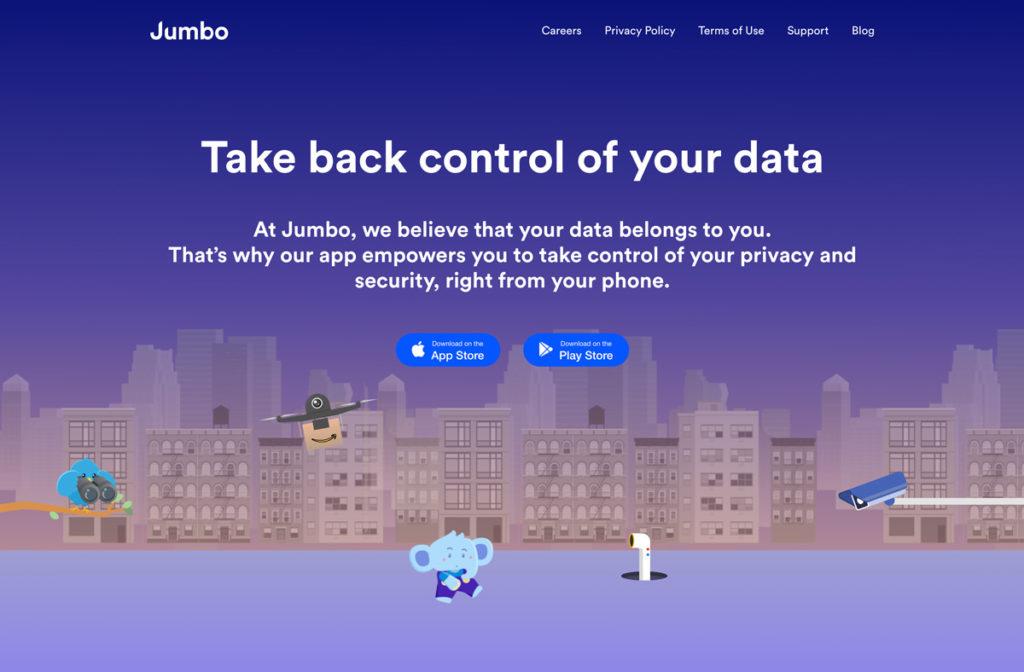 Jumbo : une application pour gérer vos données personnelles.